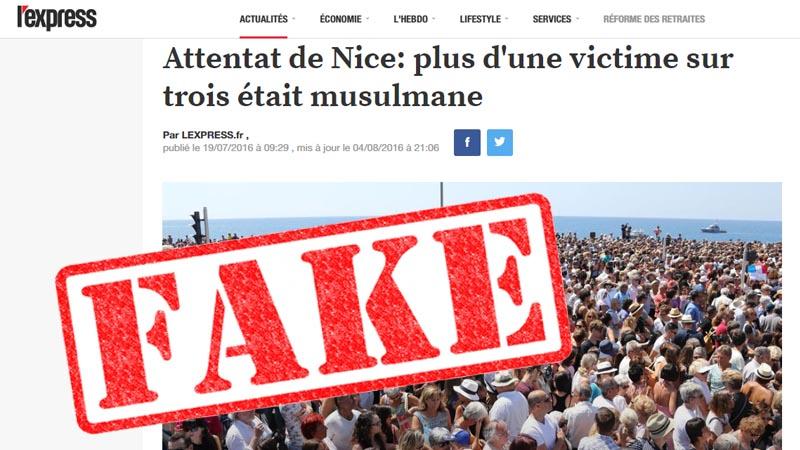 Attentat de Nice. 30 musulmans tués : une intox médiatique ?